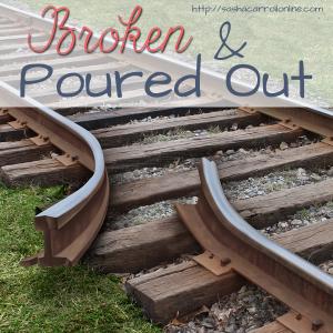 Broken & Poured Out   Jesus is the Master Sculptor   http://sashacarrollonline.com