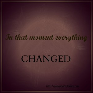 Everything Changed|With Grit & Grace|http://sashacarrollonline.com
